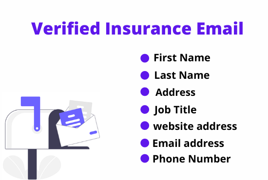 I will provide 1K USA based verified insurance emails list