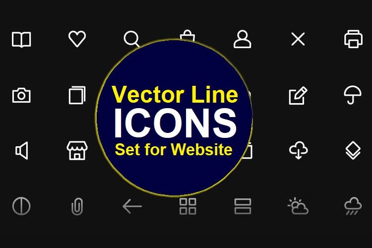 design ultra vector line icons set for website