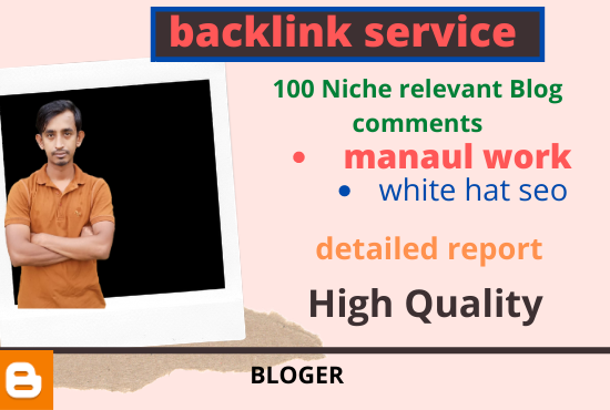 I Will Provided 100 Niche Relevant blog Comment