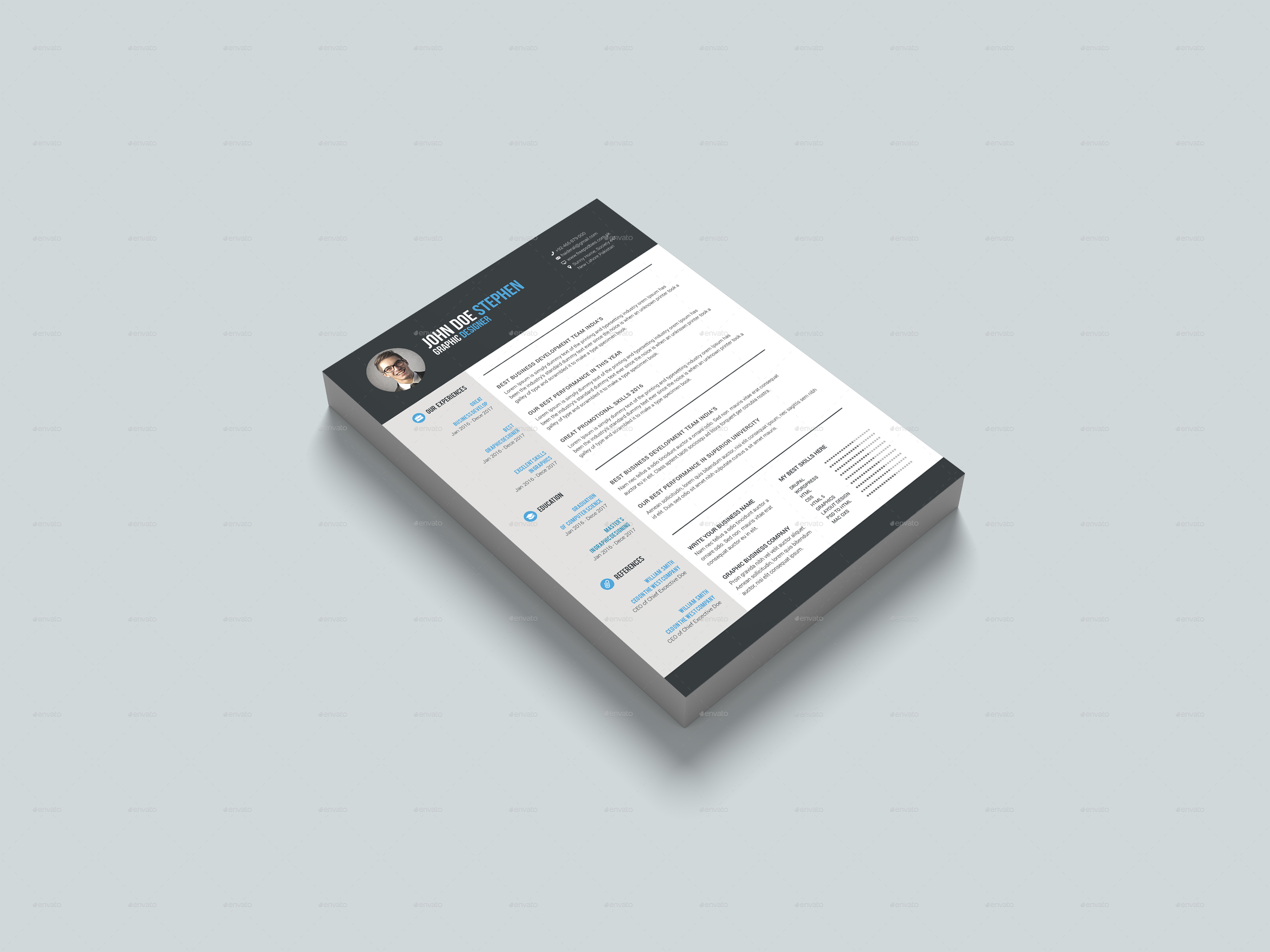I will do modern ,custom resume design