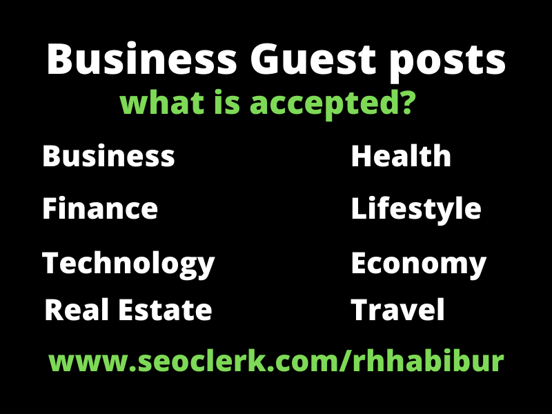 Business guestpost on high authority blog,  dofollow permanent backlinks