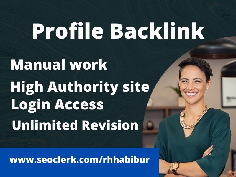 85+ profile backlink,  High authority SEO linkbuilding