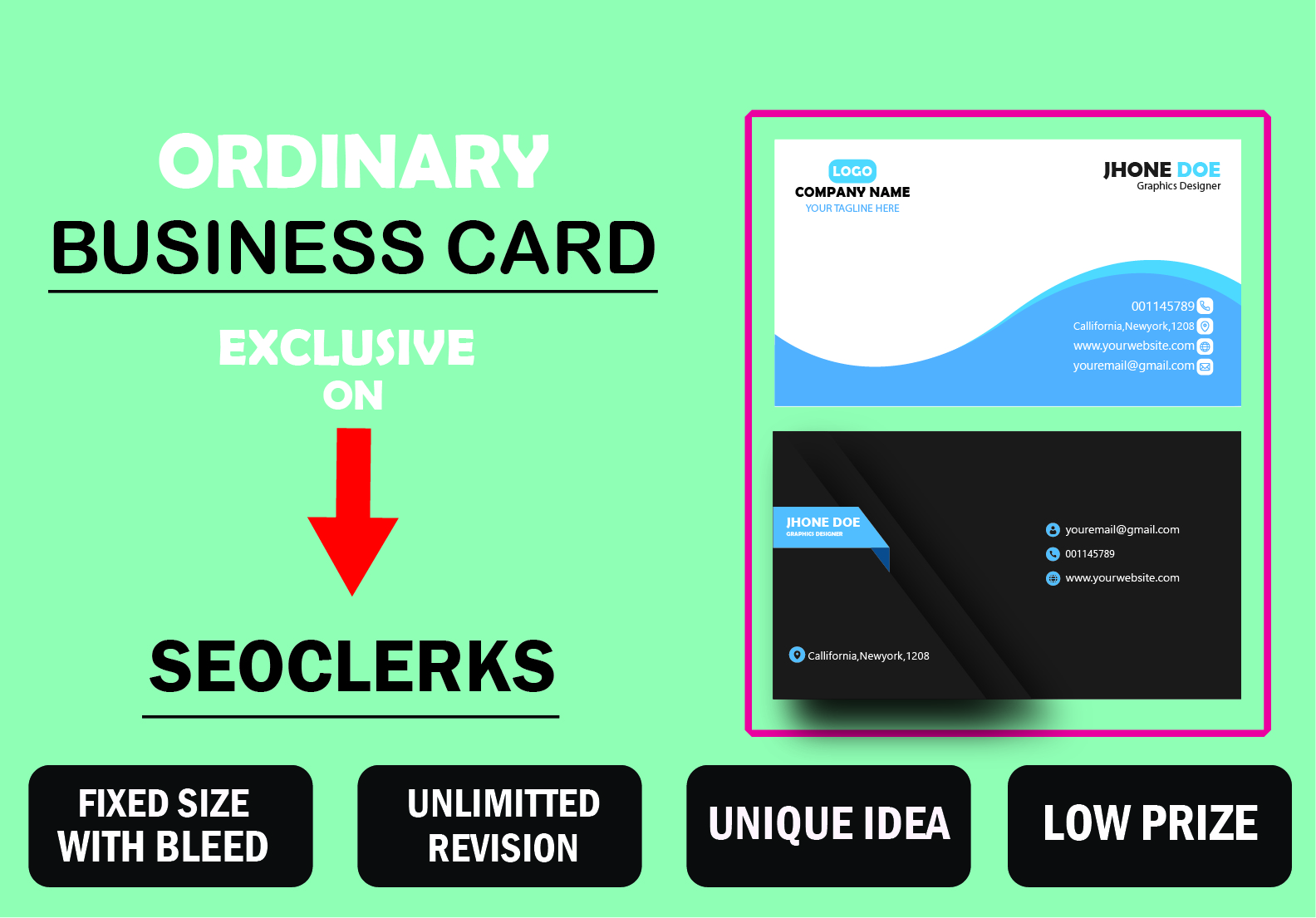 I Will make ordinary and stylish business card