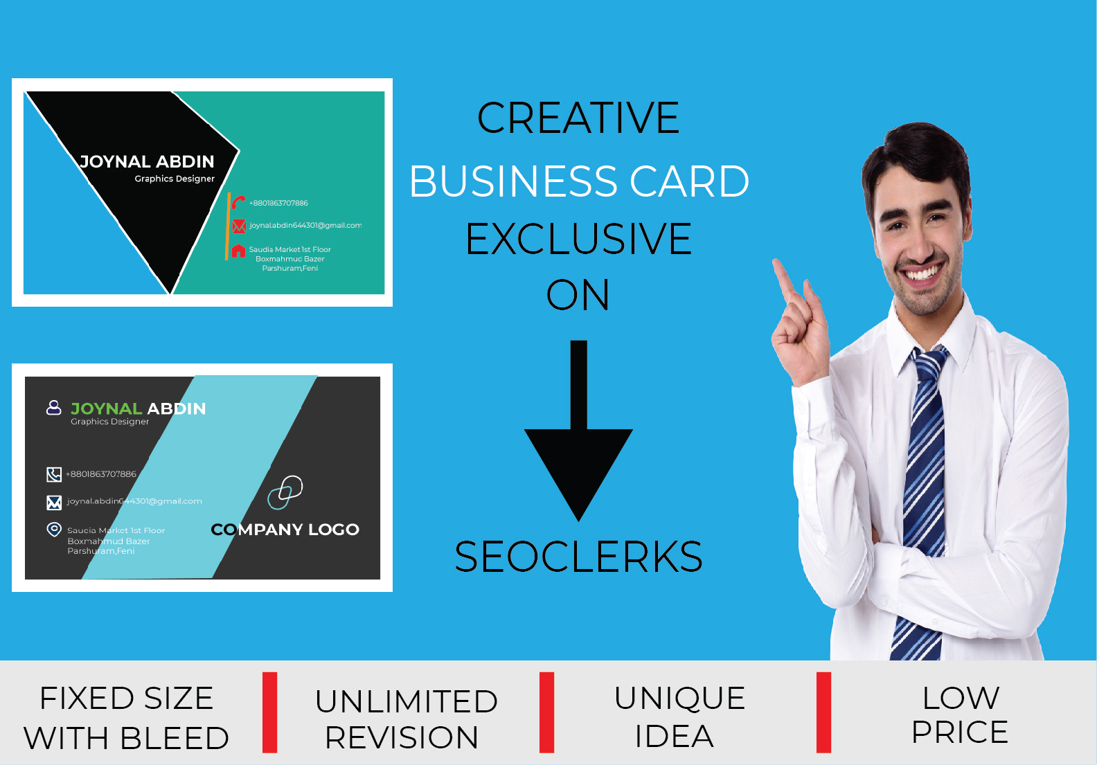 I will design creative & stylish Business Card for you