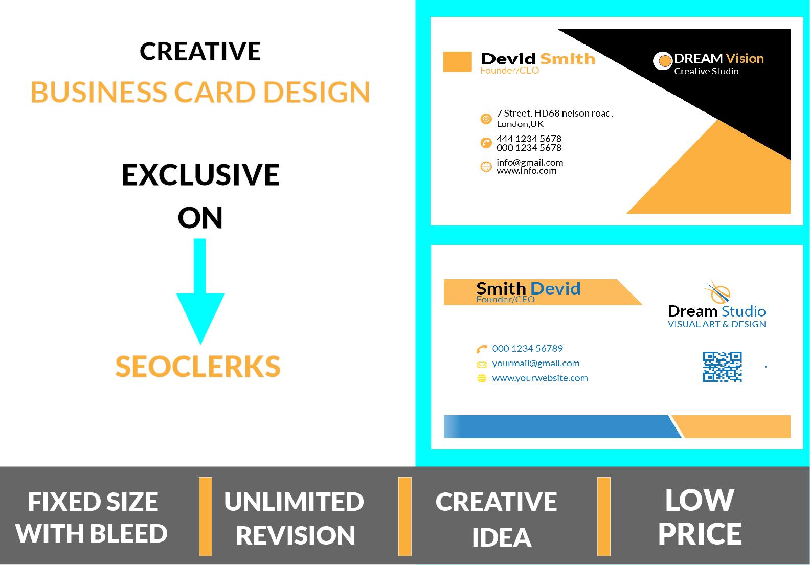 I will Design Minimal,  Stylish & Elegant Business Card for You