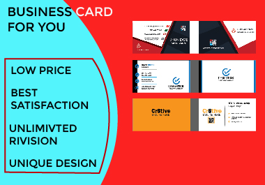 I will design minimalist and luxury Business card for you