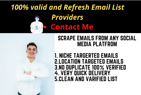 2k Niche targeted email list clean and verified