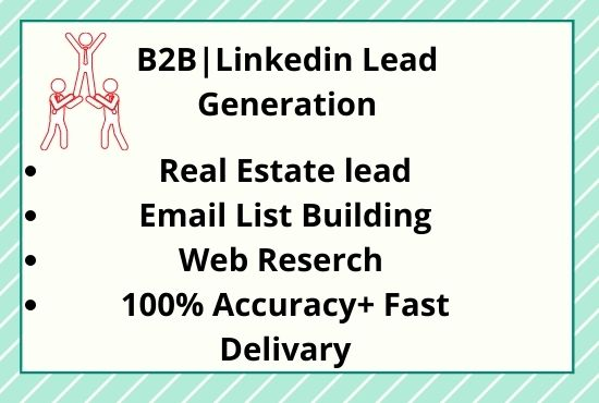 Targeted b2b linkedin lead generation email list building