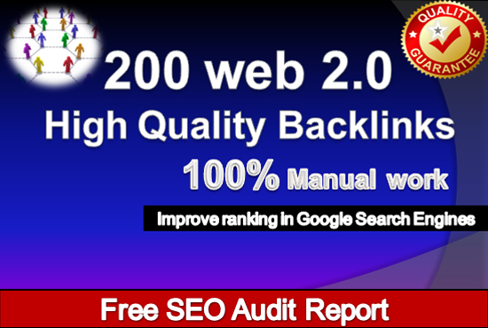 I will create 200 web 2.0 profile backlinks manually