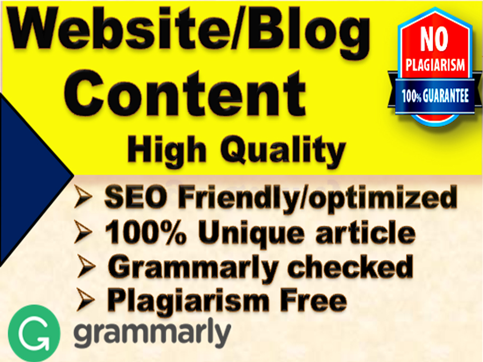 I will write 1000 words SEO friendly article/Website Content on any topic
