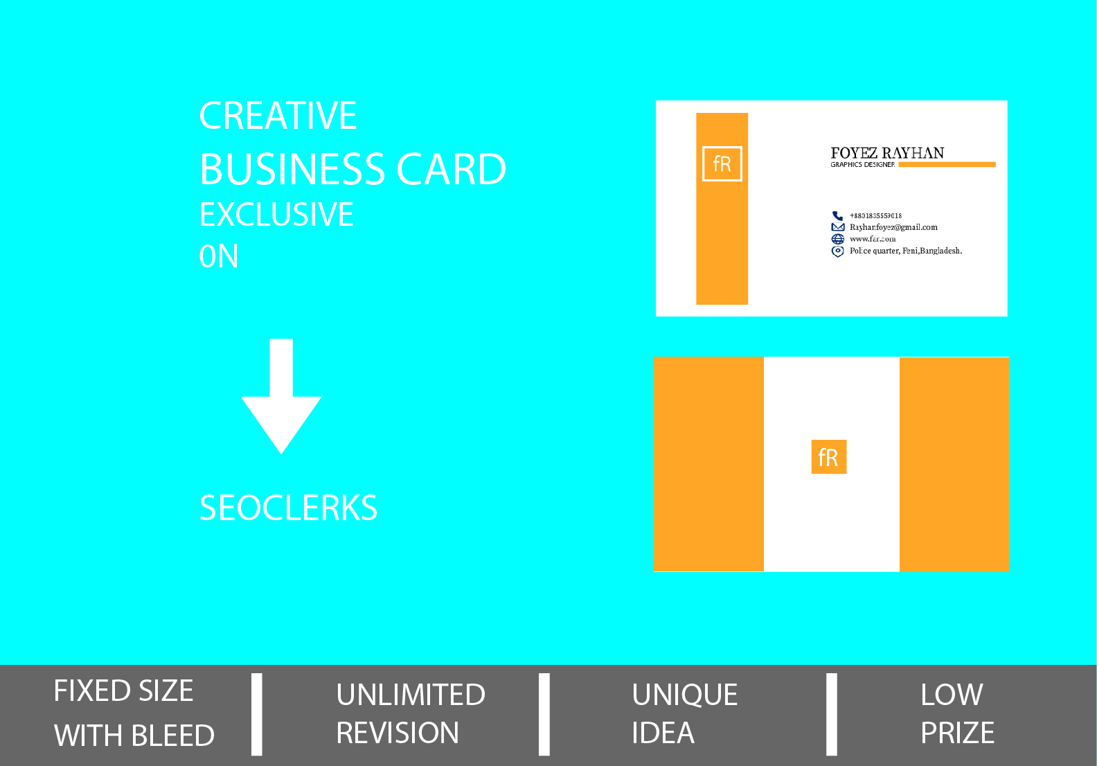 Design a unique minimalist Business card