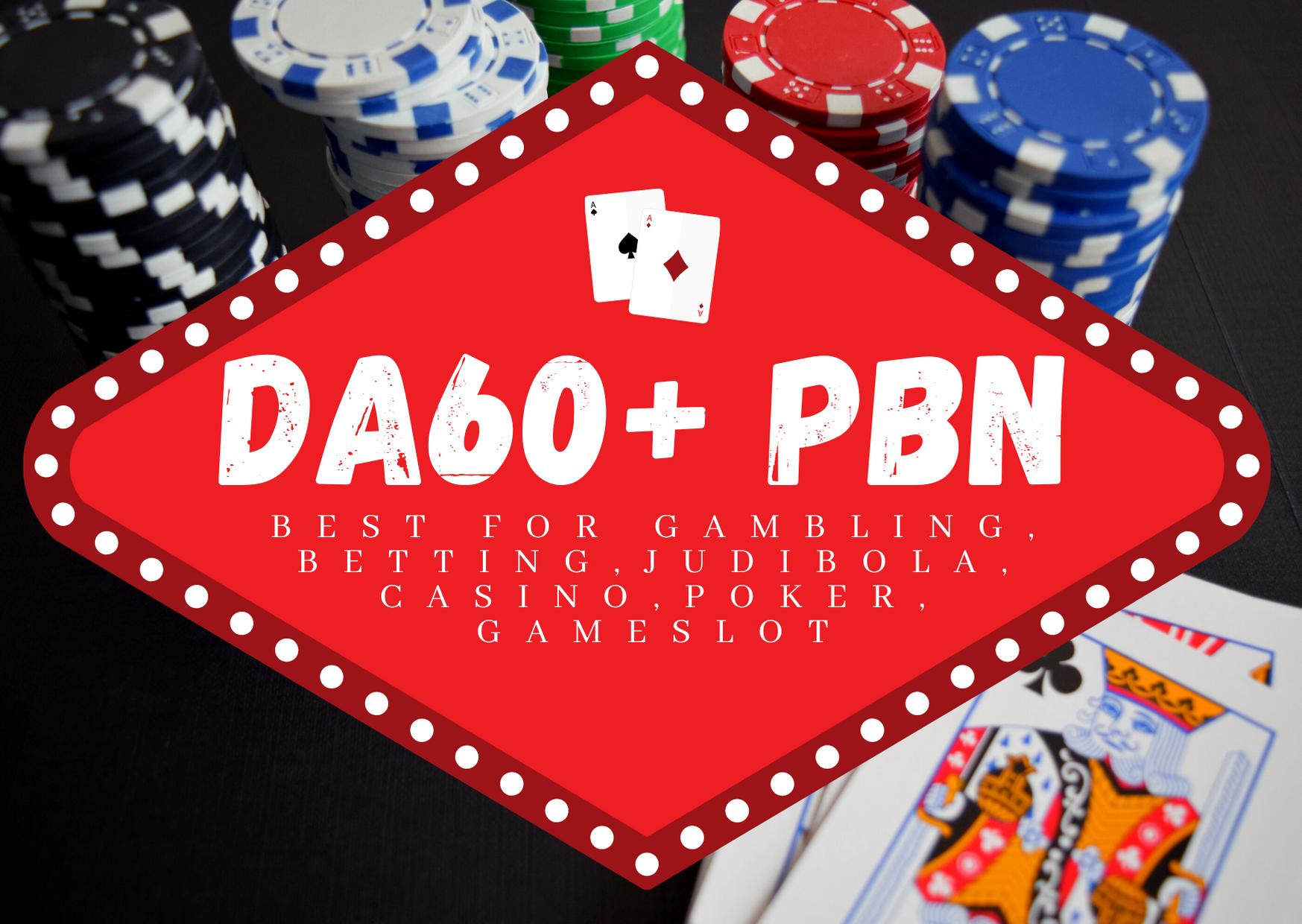 15 DA60+ PBN Backlinks For Gambling,  Betting,  Judi Bola,  Casino,  Poker,  Gameslot