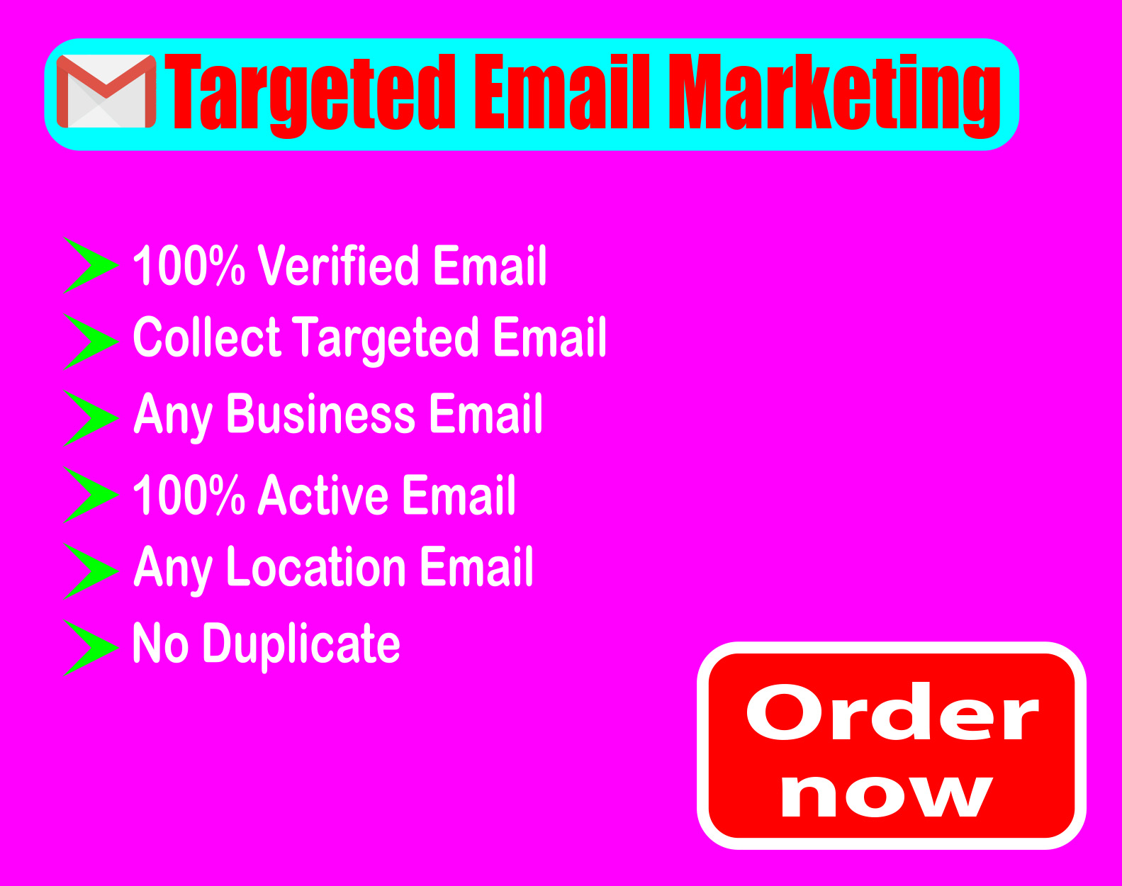 I will provide verified 1K active Email.