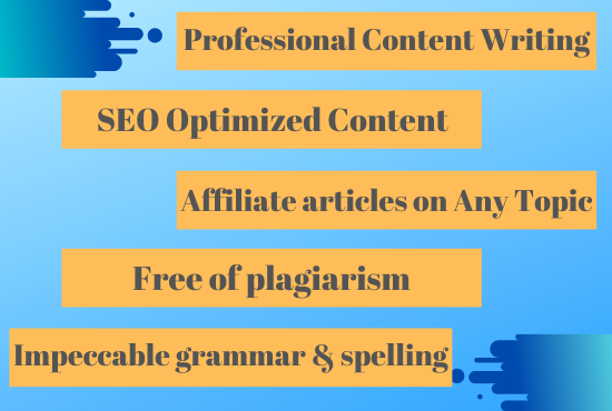 Get 500 word Powerful Professional On Page SEO Friendly Content and Articles for Google ranking