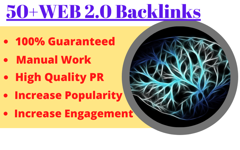 Manually Create 50 Strong WEB2.0 Dofollow Backlinks For High DA PA and DR To Increase Google Ranking