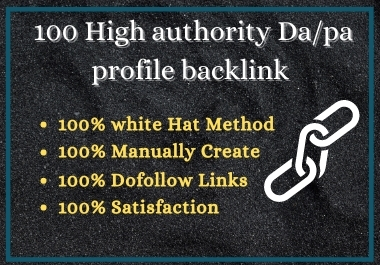 I will manually create high authority SEO backlinks for your brand