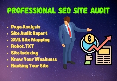 I will provide professional SEO audit report with all tools