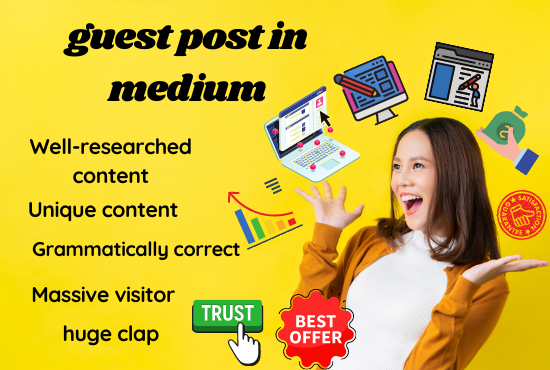I will be your article,  copy & content,  blog writer,  guest post in medium