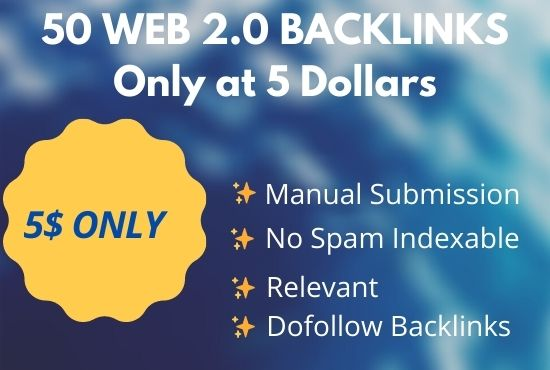 I will create google high PA and DA web 2.0 backlinks