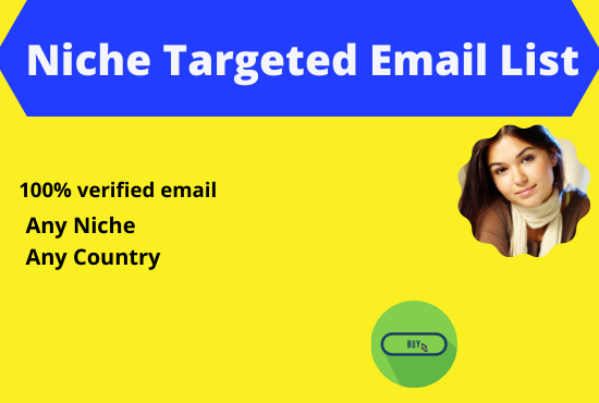 I will provide verified 4k niche targeted email list