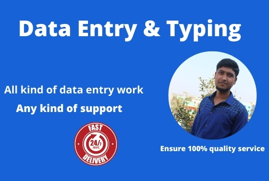Do all kind of Data Entry and Web Research