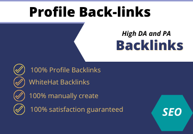Provide 60High Authority Profile Backlinks Manually