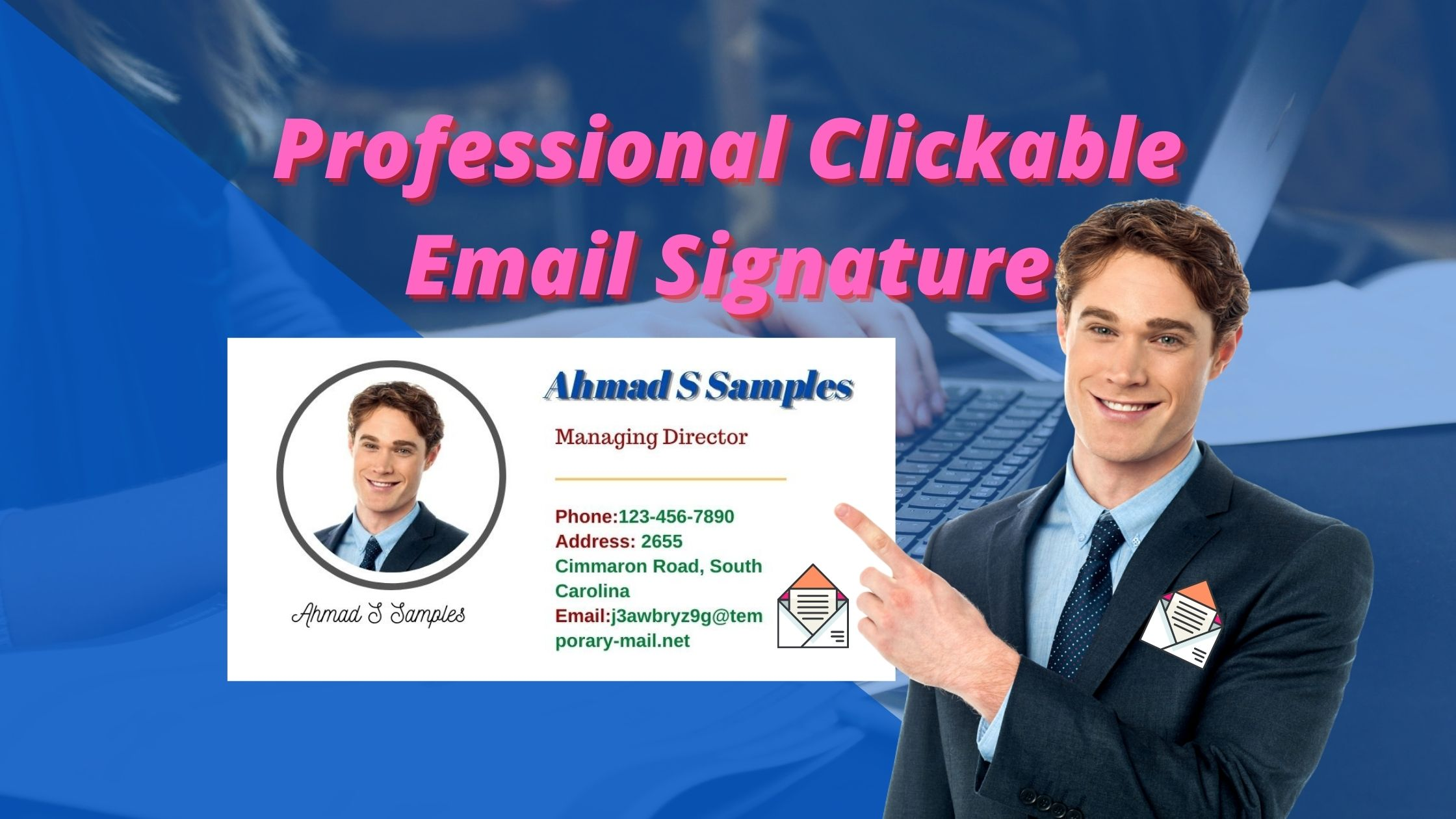 I will design a professional clickable email signature for you