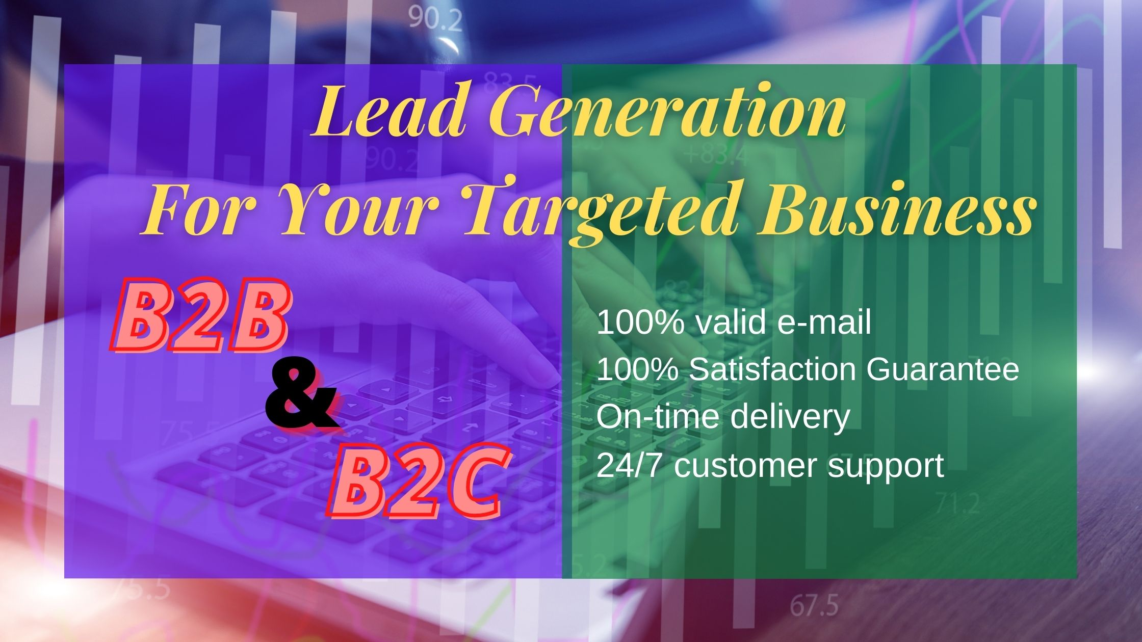 I will do lead generation for your niche & targeted business