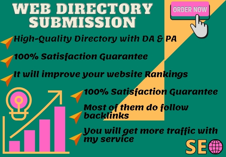 I will do 100 directory backlink to rank your website