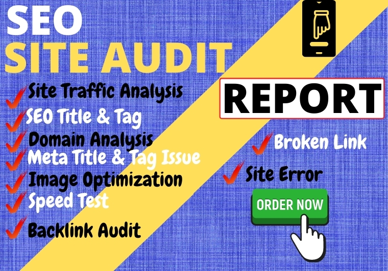I will analyze All websites and deliver an SEO site audit report