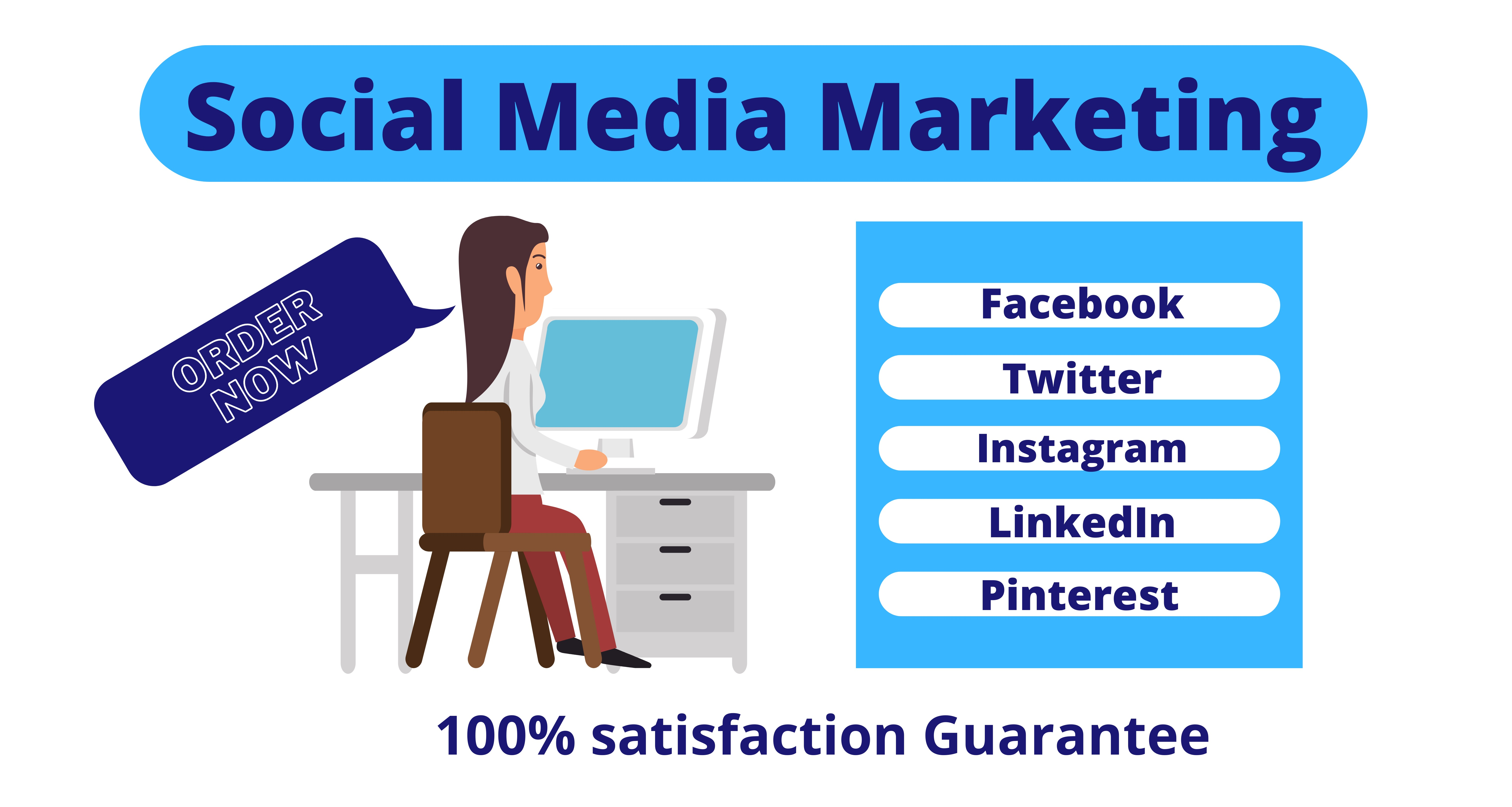 I will be your Social Media Marketing Manager and Virtual Assistant