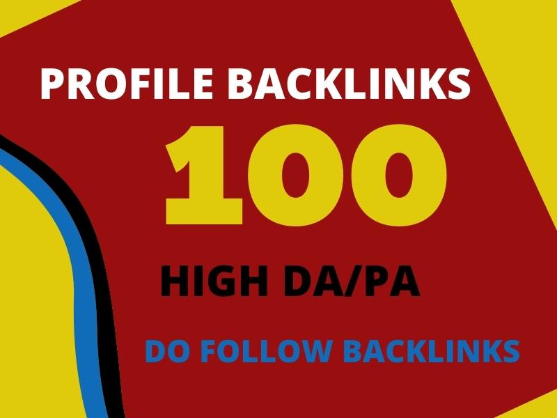 I will be do High DA-PA Do Follow SEO Profile Backlinks