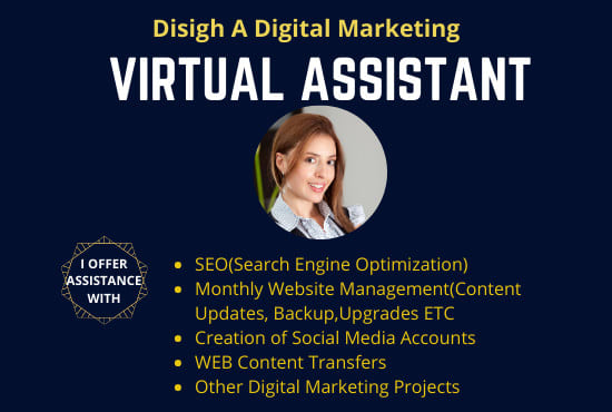 I will be your virtual assistant for 5 hours Per Day for your Wix and wordPress website, SMM, SEO.