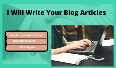 I will write SEO optimized quality content for you