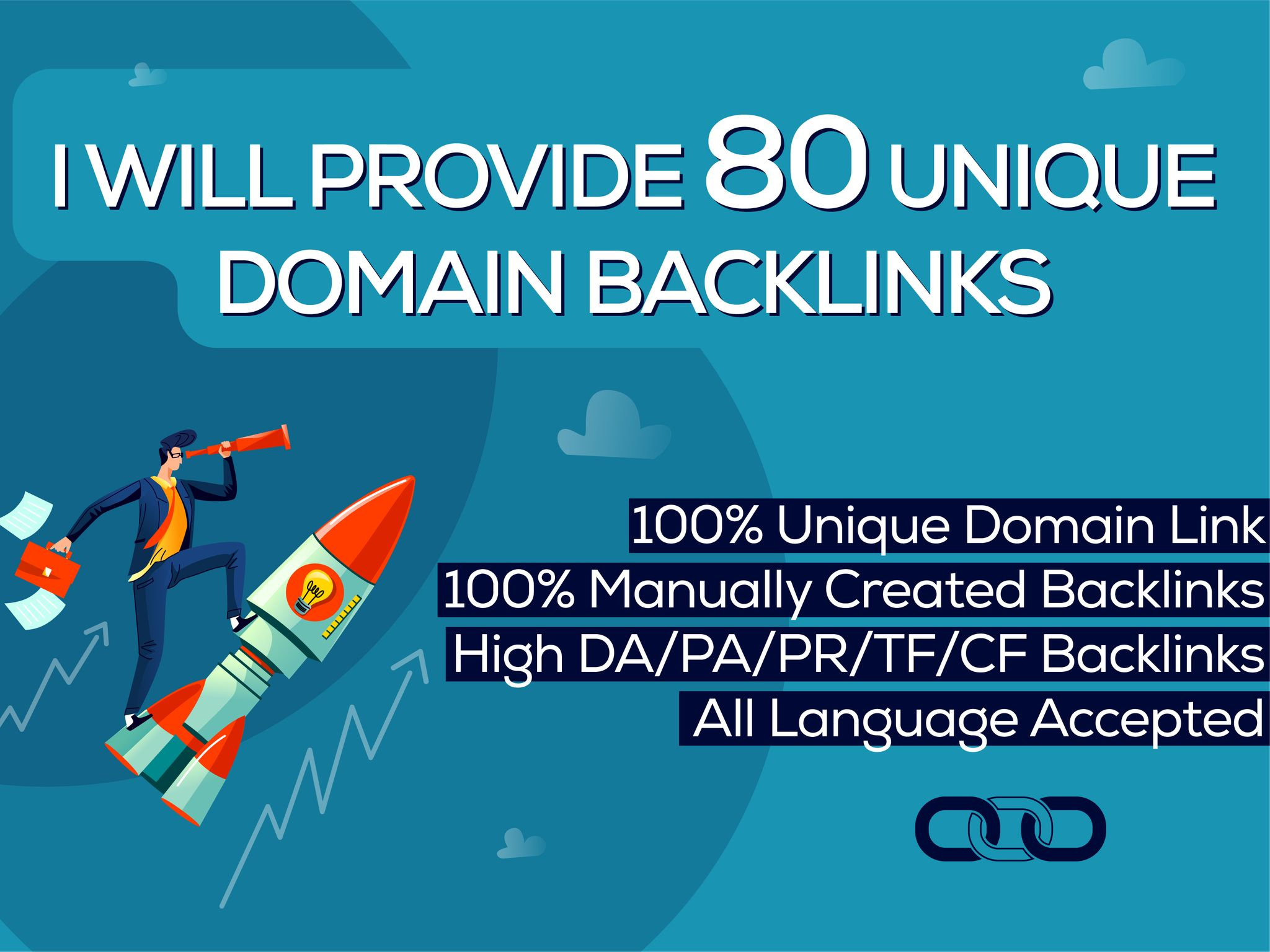 I Will Provide 80 Unique Domain Backlinks