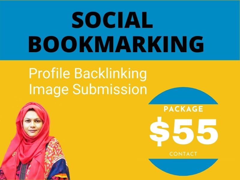 SEO Friendly high ranking Top 200 profile backlink,  200 social bookmarking & 200 Image submition