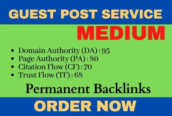 Medium Guest post for ranking domain