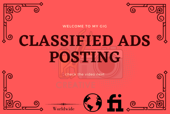 I Will Do 50 Classified Ads Posting In The USA