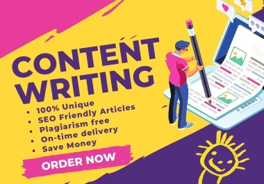 1111+ Words Professional SEO Friendly Web Content Writing,  Blog Post & Article Writing on Any Topics