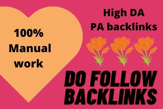 I will create manual high PA DA web 2.0 backlinks