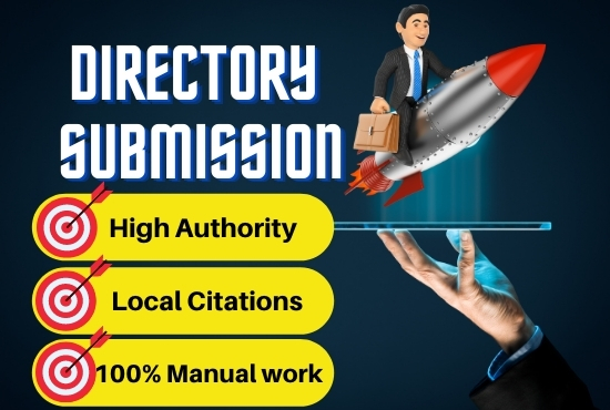 I will do 50 high space authority Directory Submission manually