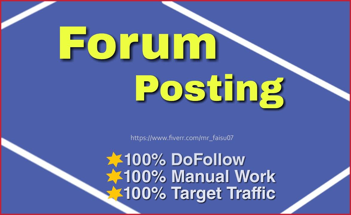 do high DA 40 plus dofollow Manuall forum backlinks
