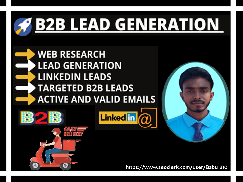 I will provide 50 targeted b2b lead generation and web research service