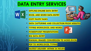 I will do copy/paste, excel data entry, typing, data entry