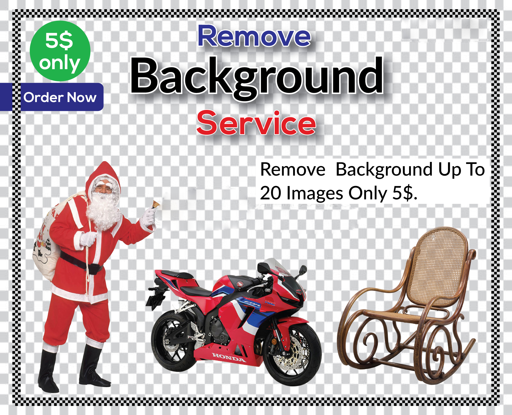 I will do background remove 20 images in less than 24 hours