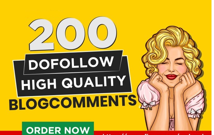 do 200 high quality dofollow blog comments backlinks for SEO