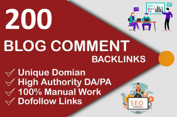 I will do 200 high quality dofollow blog comments backlinks for SEO