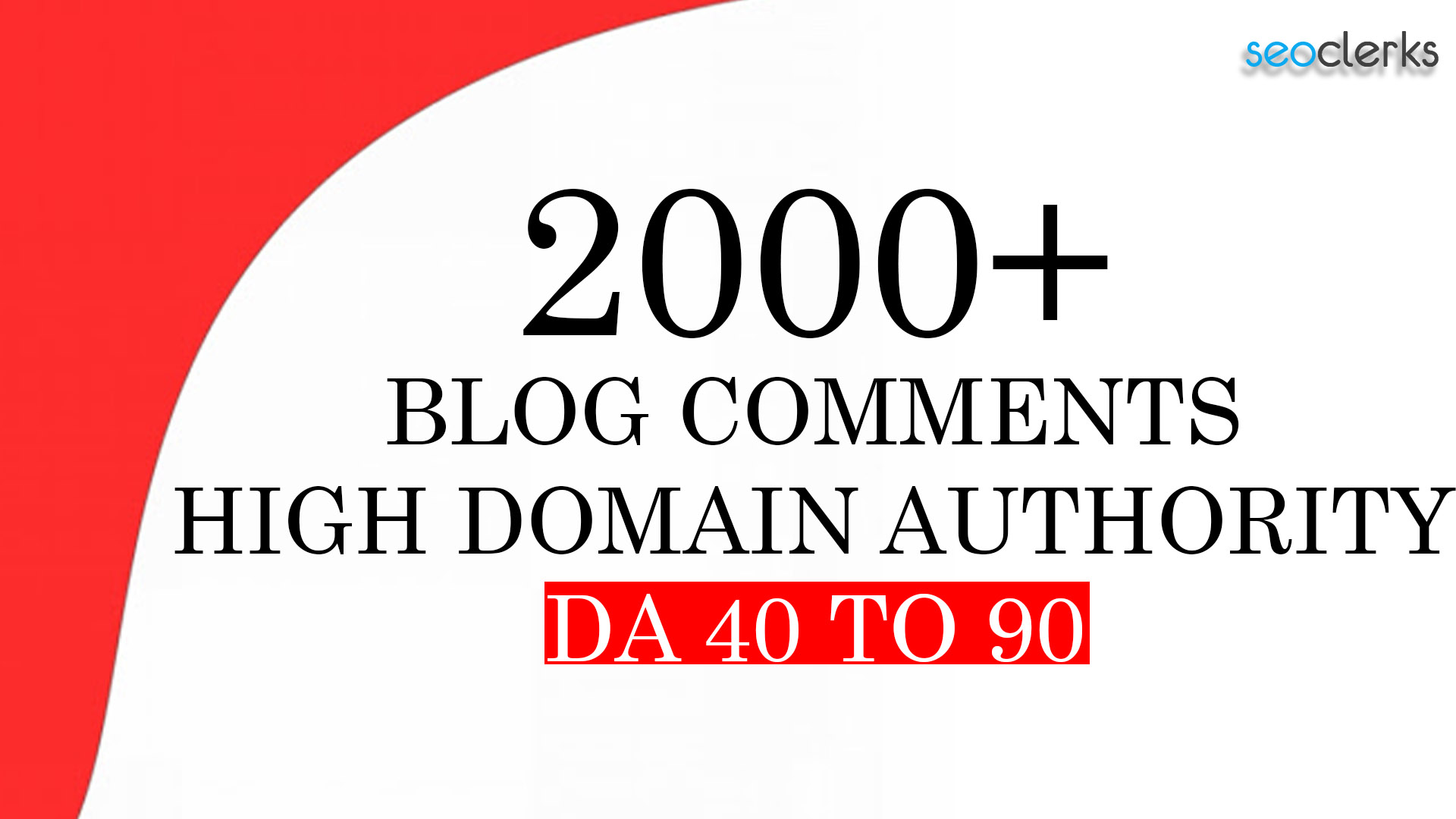 I will do manually 2000+ high authority permanent blog comment links for you