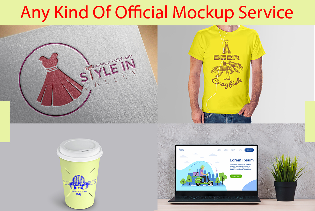 I will create your any kind of products & logo mockup