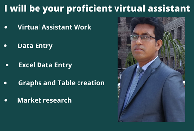 I will be your proficient virtual assistant for any kind of task.